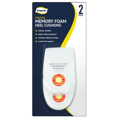 Men's Thick Adhesive Memory Foam Heel Insole Supports